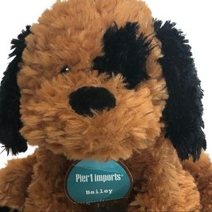 NWT Pier 1 Imports Bailey plush stuffed toy dog